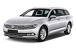 2015 Volkswagen Passat Comfort 5 Door Wagon Angular Front stock photos of front three quarter view