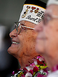 Pearl Harbor survivor Sterling Cole waits for the beginning of the 71st Anniversary Pearl Harbor Day Commemoration at the Pearl Harbor Visitor Center in Honolulu, HI on, Dec. 7, 2012. .Photo by Cathleen Allison
