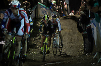 Sven Nys (BEL/Crelan-AAdrinks) racing in the pack<br /> <br /> Superprestige Diegem 2015