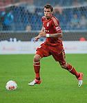 Mario Mandzukic of Bayern Munich in action during a friendly match against VfL Wolfsburg as part of the Audi Football Summit 2012 on July 26, 2012 at the Guangdong Olympic Sports Center in Guangzhou, China. Photo by Victor Fraile / The Power of Sport Images