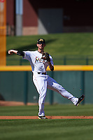 Mesa Solar Sox shortstop J.T. Riddle (7) during an Arizona Fall League game against the Glendale Desert Dogs on October 14, 2015 at Sloan Park in Mesa, Arizona.  Glendale defeated Mesa 7-6.  (Mike Janes/Four Seam Images)