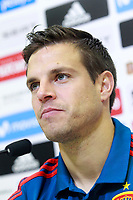 Spain's Cesar Azpilicueta in press conference after training session. May 31,2018.(ALTERPHOTOS/Acero) /NortePhoto.com