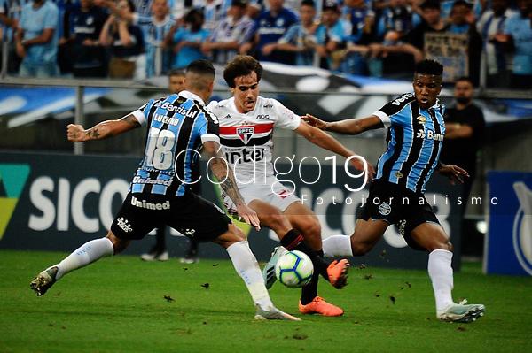 PORTO ALEGRE, RS, 01.12.2019 - GREMIO - SAO PAULO - Igor Gomes, na partida entre Grêmio e São Paulo, pela 36. rodada do Campeonato Brasileiro 2019, no estádio Arena Grêmio, em Porto Alegre, neste domingo (1).