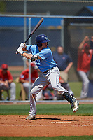 Tampa Bay Rays Seaver Whalen (79) bats during a Minor League Spring Training game against the Boston Red Sox on March 25, 2019 at the Charlotte County Sports Complex in Port Charlotte, Florida.  (Mike Janes/Four Seam Images)