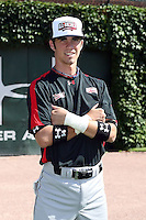 August 17 2008:  Nick Franklin (14) of the Baseball Factory team during the 2008 Under Armour All-American Game at Wrigley Field in Chicago, IL.  Photo by:  Mike Janes/Four Seam Images