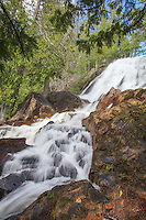 """""""Louisa Falls""""<br /> Louisa Falls is a well-loved waterfall joining Lake Louisa with Lake Agnes in Quetico Provincial Park. The rugged terrain offers beautiful views along its challenging portage."""