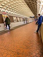Washington DC Metro System Platform.