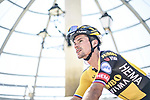 Primoz Roglic (SLO) Jumbo-Visma at sign on before Stage 5 of La Vuelta d'Espana 2021, running 184.4km from Tarancón to Albacete, Spain. 18th August 2021.      <br /> Picture: Charly Lopez/Unipublic   Cyclefile<br /> <br /> All photos usage must carry mandatory copyright credit (© Cyclefile   Unipublic/Charly Lopez)