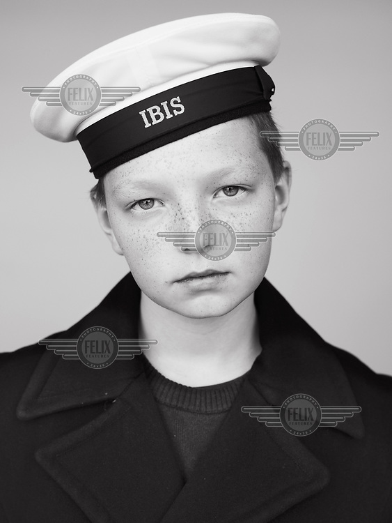 Jordan, registration number 296, a pupil at the Royal IBIS School (Koninklijk Werk IBIS) which was founded in 1906 by Prince Albert of Belgium to provide education and training for orphans from the fishing industry. The modern school offers places to children from socially challenging backgrounds. Their Sunday uniforms reveal the school's continued maritime links.