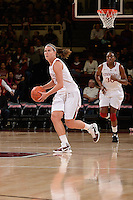 STANFORD, CA - NOVEMBER 26: Jeanette Pohlen of Stanford women's basketball on the drive in a game against South Carolina on November 26, 2010 at Maples Pavilion in Stanford, California.  Stanford topped South Carolina, 70-32.