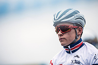 Thomas Pidcock (GBR) pre race focus <br /> <br /> Men's U23 race. <br /> <br /> UCI 2019 Cyclocross World Championships<br /> Bogense / Denmark<br /> <br /> ©kramon