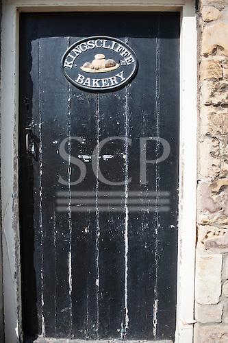 Kings Cliffe, Northamptonshire. Bakery door.
