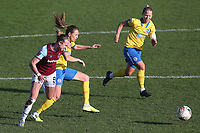 Martha Thomas of West Ham tangles with Kayleigh Green of Brighton during West Ham United Women vs Brighton & Hove Albion Women, Barclays FA Women's Super League Football at the Chigwell Construction Stadium on 15th November 2020