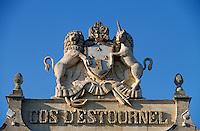 Europe/France/Aquitaine/33/Gironde/Saint-Estèphe: château Cos d'Estournel (AOC Saint-Estèphe) - Détail du porche