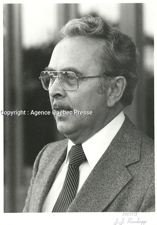 Le vice-président du comité exécutif de la Ville de Montréal  Pierre Lorange, <br />  le 25 septembre 1980<br /> <br /> <br /> PHOTO :   Agence Quebec Presse