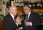 """PASQUALE SQUITIERI CON MARCELLO DELL'UTRI<br /> 75° COMPLEANNO DI LINO JANNUZZI - """"DA FORTUNATO AL PANTHEON"""" ROMA 2003"""