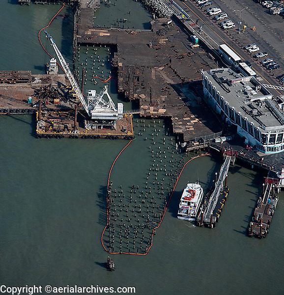aerial photograph of pier maintenance San Francisco, California