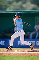 Brennan Holt (4) during the WWBA World Championship at Terry Park on October 8, 2020 in Fort Myers, Florida.  Brennan Holt, a resident of Baton Rouge, Louisiana who attends Parkview Baptist High School, is committed to Louisiana State.  (Mike Janes/Four Seam Images)