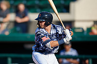 Lakeland Flying Tigers Kody Clemens (8) at bat during a Florida State League game against the Dunedin Blue Jays on May 18, 2019 at Publix Field at Joker Marchant Stadium in Lakeland, Florida.  Dunedin defeated Lakeland 3-2 in eleven innings.  (Mike Janes/Four Seam Images)