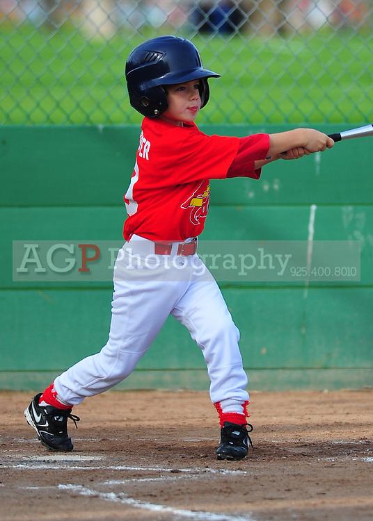 The Pleasanton National Little League Farm Cardinals play  at the Pleasanton Sports Park Saturday March 20, 2010. (Photo by Alan Greth)