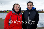 Enjoying a stroll in the Tralee Bay Wetlands on Friday, l to r: Mandy O'Connor and Fayth Efegbare