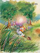 Ron, CUTE ANIMALS, Quacker, paintings, duck, flowers, hedgehog(GBSG8100,#AC#) Enten, patos, illustrations, pinturas