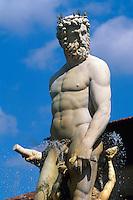 Italien, Toskana, Florenz, Piazza della Signoria, Neptunbrunnen von Ammanati, Unesco-Weltkulturerbe