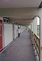Cumbernauld: Housing--external aisle. Photo '90.