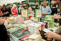 Tuesday 31 May 2016. Hay on Wye, UK<br /> Pictured: People browsing the books at hay <br /> Re: The 2016 Hay festival take place at Hay on Wye, Powys, Wales