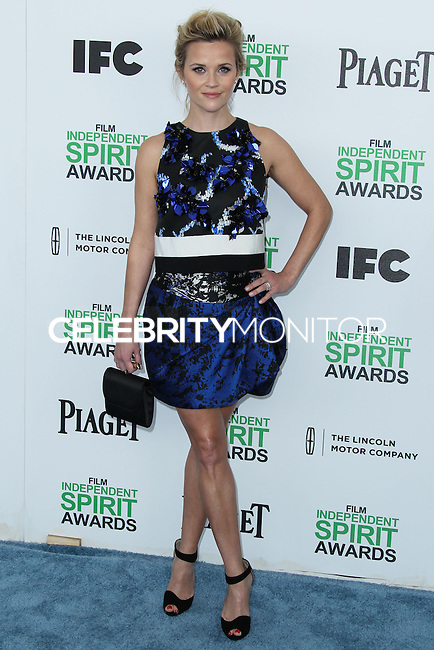 SANTA MONICA, CA, USA - MARCH 01: Reese Witherspoon at the 2014 Film Independent Spirit Awards held at Santa Monica Beach on March 1, 2014 in Santa Monica, California, United States. (Photo by Xavier Collin/Celebrity Monitor)