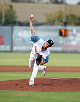 Kyle Bradish participates in the 2019 California League All-Star Game at San Manuel Stadium on June 18, 2019 in San Bernardino, California (Bill Mitchell)