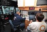 Dispatchers work in the command center during a DUI checkpoint in Carson City, Nev. on Sunday, Sept. 2, 2012. Several area agencies participated including Carson City Sheriff's Department, Nevada Highway Patrol and Lyon County Sheriff..Photo by Cathleen Allison