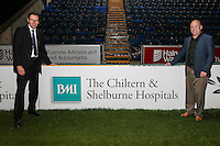 Sponsors following the The Checkatrade Trophy match between Wycombe Wanderers and West Ham United U21 at Adams Park, High Wycombe, England on 4 October 2016. Photo by David Horn.