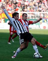 Fudbal, Jelen super liga, sezona 2010/11.Derby, Derbi.Crvena Zvezda Vs. Partizan.Sasa Ilic and Ognjen Koroman, right.Belgrade, 23.10.2010..foto: Srdjan Stevanovic/Starsportphoto ©