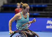 Rotterdam, Netherlands, December 14, 2016, Topsportcentrum, Lotto NK Tennis, Wheelchair, Jiske Griffoen (NED) <br /> Photo: Tennisimages/Henk Koster