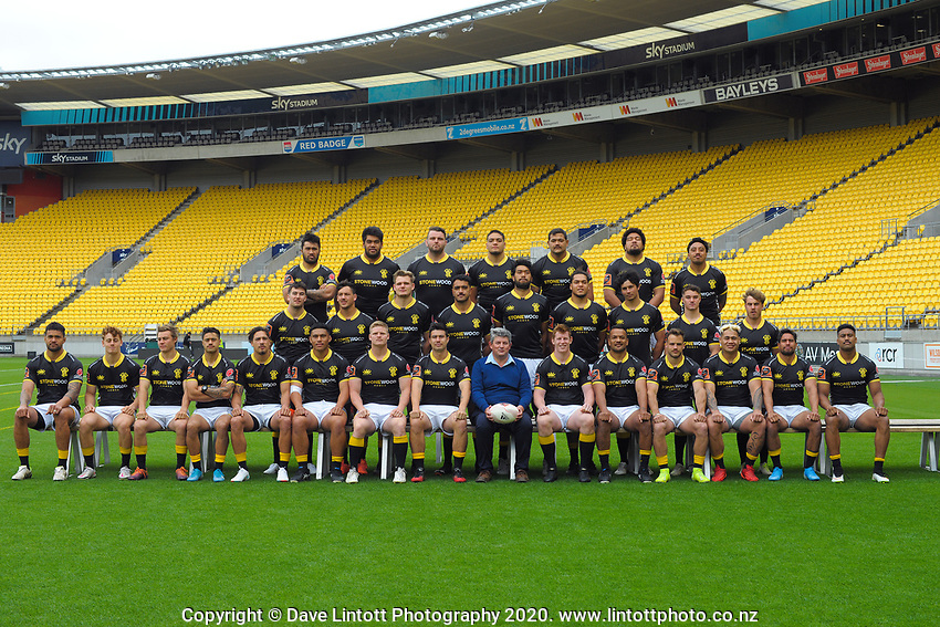 Burger King's Joe de Atouguia  with the 2020 Wellington Lions Mitre 10 Cup rugby team at Sky Stadium in Wellington, New Zealand on Friday, 13 November 2020. Photo: Dave Lintott / lintottphoto.co.nz