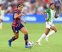 AUSTIN, TX - JUNE 16: Lynn Williams #6 of the United States brings the ball up the field during a game between Nigeria and USWNT at Q2 Stadium on June 16, 2021 in Austin, Texas.