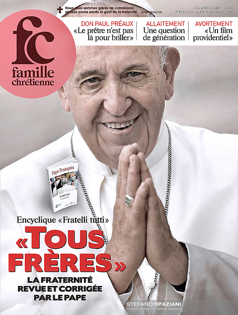 Famille Chrétienne France Magazine Pope Francis. 10 October, 2020. <br /> (Photo by Stefano Spaziani)