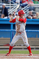 Williamsport Crosscutters shortstop Taylor Black #5 during the second game of a doubleheader against the Batavia Muckdogs at Dwyer Stadium on August 23, 2011 in Batavia, New York.  Batavia defeated Williamsport 2-1.  (Mike Janes/Four Seam Images)