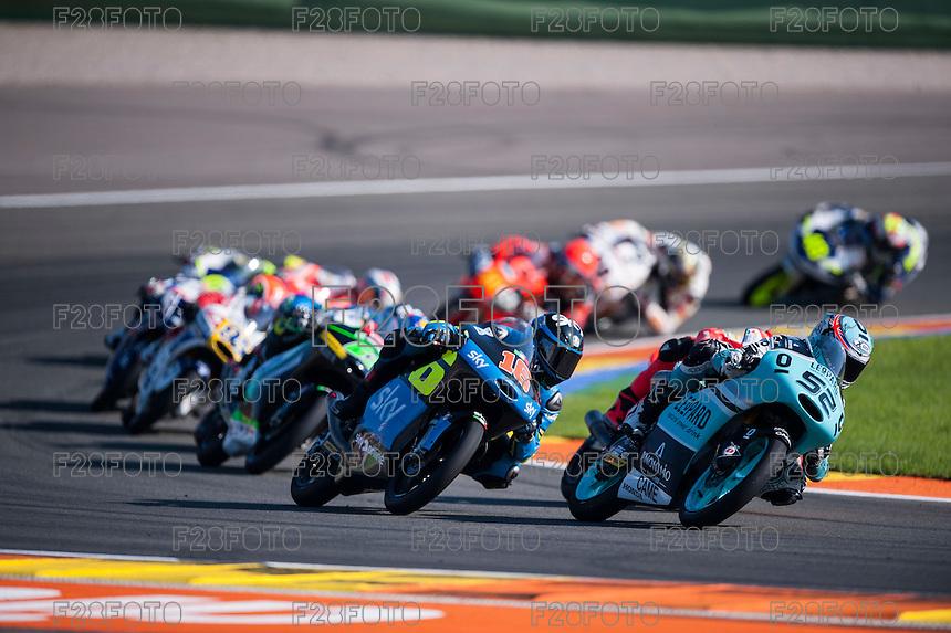 VALENCIA, SPAIN - NOVEMBER 8: Danny Kent, Andrea Migno during Valencia MotoGP 2015 at Ricardo Tormo Circuit on November 8, 2015 in Valencia, Spain