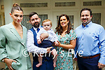 Baby Thomas Goggin with his parents TJ Goggin & Irene Horgan, Causway and god parents Tamara Goggin & John Harty who was christened in Ballyduff Church by Fr.Brendan Walsh on Saturday last and afterwards at the Listowel Arms Hotel