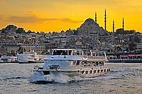 Fine Art Photograph of a Sunset on the Bosphorus Strait in Istanbul Turkey.