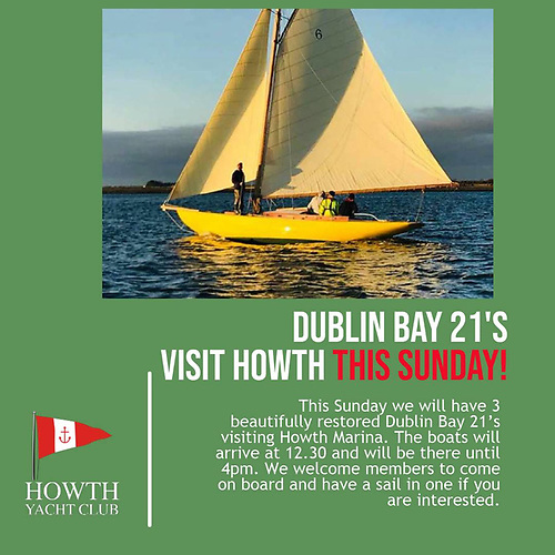 One hundred and eighteen years after they first sailed across to Howth, the first three restored Dublin Bay 21s will be making a repeat visit this Sunday, September 12th.