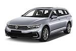 2020 Volkswagen Passat GTE 5 Door Wagon Angular Front automotive stock photos of front three quarter view