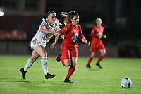 during a female soccer game between FC Femina White Star Woluwe and Oud Heverlee Leuven on the fourth matchday in the 2021 - 2022 season of Belgian Scooore Womens Super League , Friday 10 th of September 2021  in Woluwe , Belgium . PHOTO SPORTPIX   SEVIL OKTEM