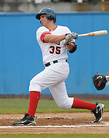 July 17, 2009: Infielder Chris Marrero (35) of the Potomac Nationals, Carolina League affiliate of the Washington Nationals, in a game against the Kinston Indians at G. Richard Pfitzner Stadium in Woodbridge, Va. Photo by: Tom Priddy/Four Seam Images