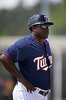 Minnesota Twins manager Tommy Watkins (99) during an Instructional League game against the Boston Red Sox on September 24, 2016 at CenturyLink Sports Complex in Fort Myers, Florida.  (Mike Janes/Four Seam Images)