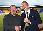 St Johnstone FC Player of the Year Awards...18.05.14<br /> Auchterarder Clubman of the Year Award to Steven Anderson presented by Stuart Ferguson<br /> Picture by Graeme Hart.<br /> Copyright Perthshire Picture Agency<br /> Tel: 01738 623350  Mobile: 07990 594431