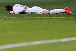 Gareth Bale of Real Madrid lies injured on the pitch during their La Liga match between Real Madrid and Deportivo Leganes at the Estadio Santiago Bernabéu on 06 November 2016 in Madrid, Spain. Photo by Diego Gonzalez Souto / Power Sport Images