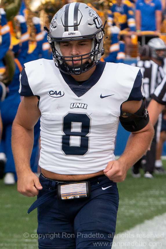 New Hampshire defensive back Tim Bouchard. The Pitt Panthers defeated the New Hampshire Wildcats 77-7 at Heinz Field, Pittsburgh, Pennsylvania on September 25, 2021.